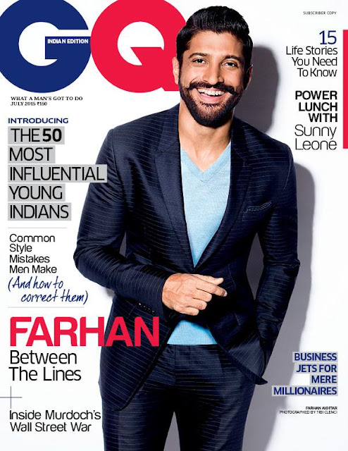 Farhan Akhtar on GQ Magazine Cover Latest Edition July 2015