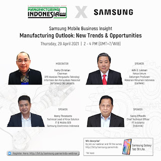 Webinar Manufacturing Outlook: New Trends & Opportunities - 29 April 2021