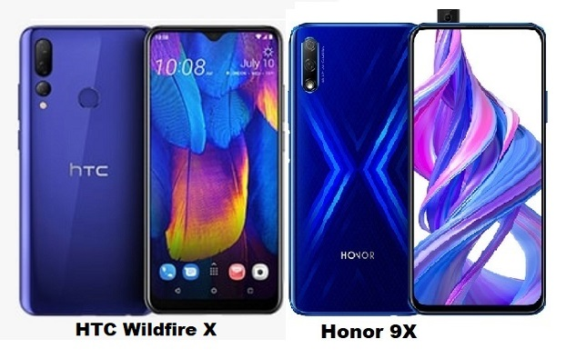 Huawei Honor 9X Vs HTC Wildfire X Specs Comparison