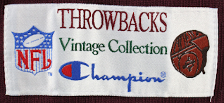 Champion lower hem label from the Throwbacks Collection