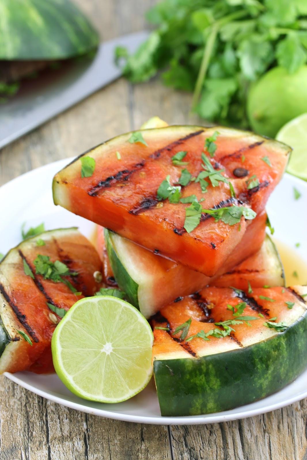 cilantro lime grilled watermelon