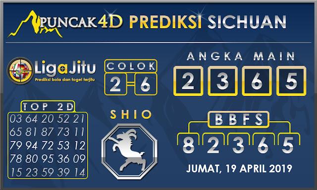 PREDIKSI TOGEL SICHUAN PUNCAK4D 19 APRIL 2019