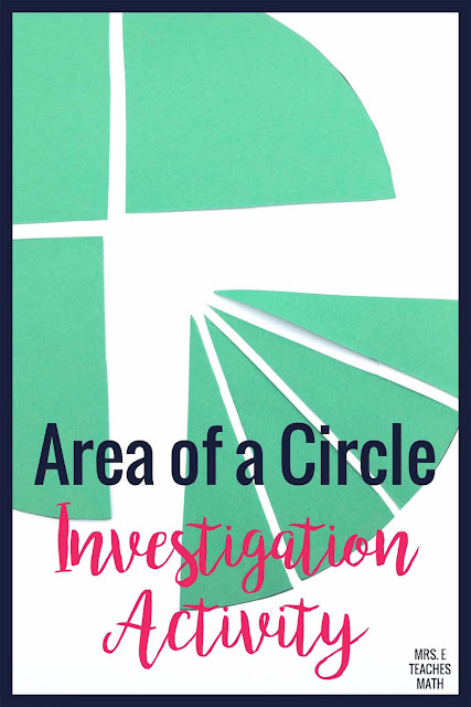 When a math student is learning to find the area of a circle in geometry, activities help their understanding so much! This discovery activity and FREE WORKSHEET is a great way to help middle school and high school students understand the formula.