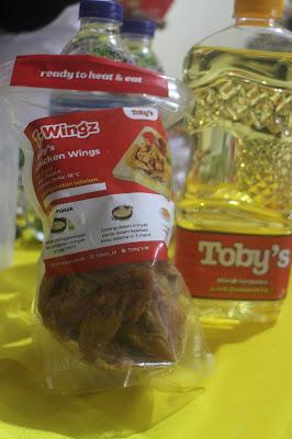 Tobys wings frozen