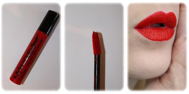 Swatch Cream Lipstick Liquid Suede NYX Teinte 11 Kitten Heels