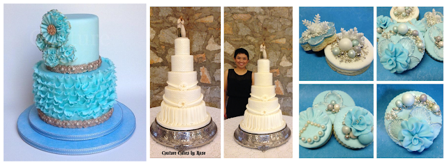 Rose de Guzman-Warnick Couture Cakes By Rose Interview  Blue, Purple, Pink Ruffles Gold Cake