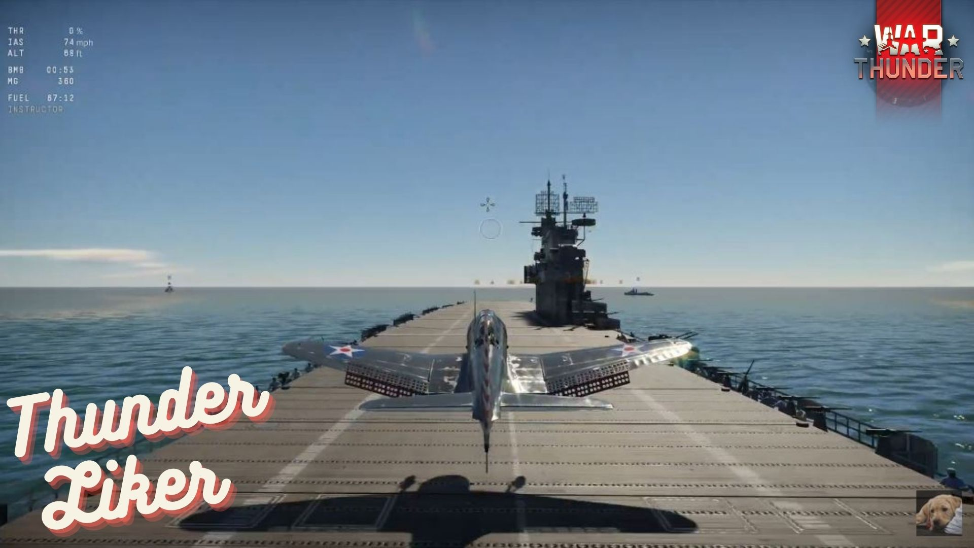 War Thunder SBD Dauntless Performs Smooth Landing on USS Enterprise