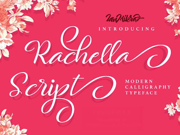 Rachella Modern Script Font Free Download