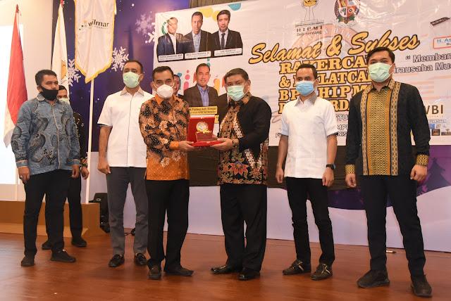 HMA Yusuf Siregar Buka Rakercab dan Diklatcab BPC HIPMI Deliserdang