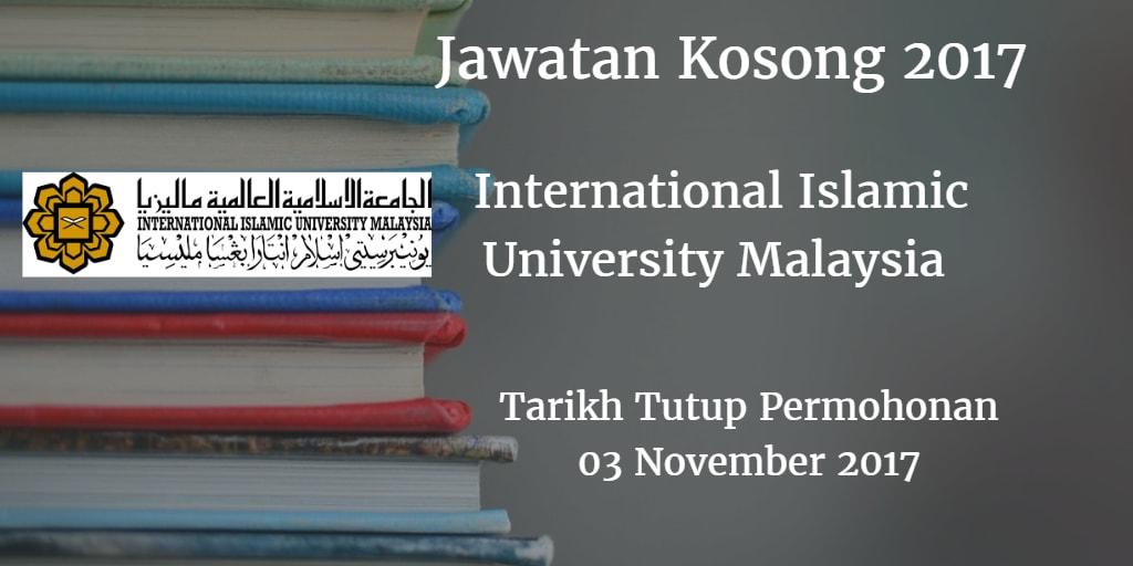Jawatan Kosong IIUM 03 November 2017