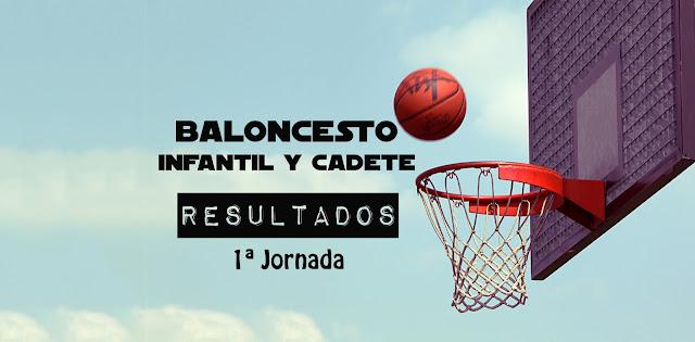 BALONCESTO INFANTIL y CADETE: Disponible clasificación 1ª Jornada Temp 2019-20