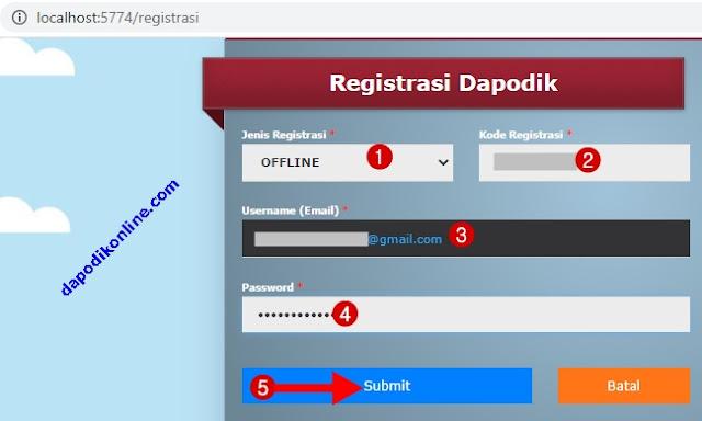 Cara Registrasi Dapodik 2021.c Secara Offline