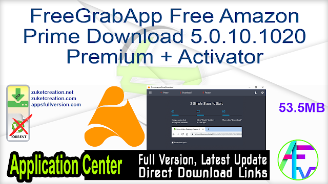 FreeGrabApp Free Amazon Prime Download 5.0.10.1020 Premium + Activator