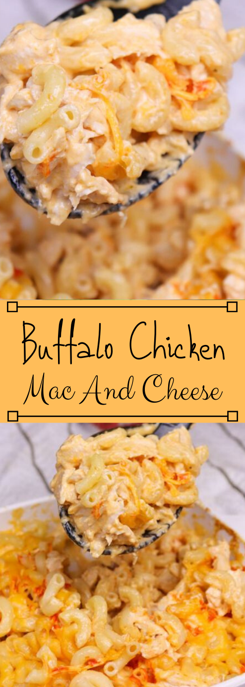 Buffalo Chicken Mac And Cheese #dinner #chicken #buffalo #cheese #easy