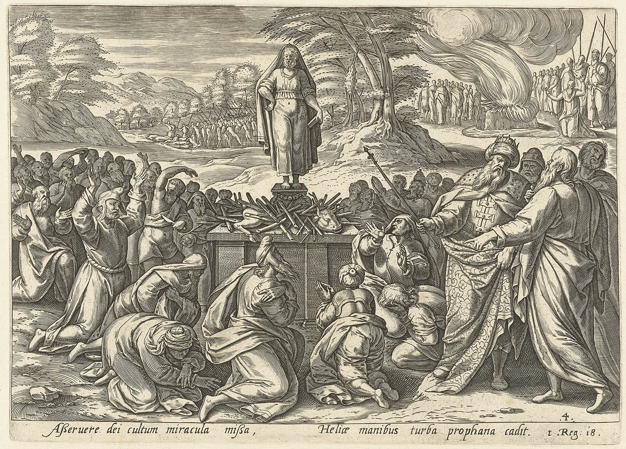 Elijah competes with the Prophets of Baal