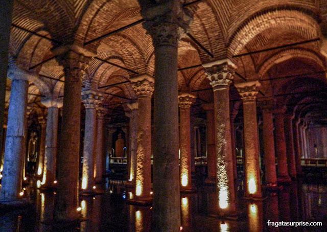 A Cisterna da Basílica, em Istambul
