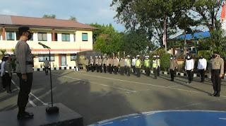 Kapolres Pangkep Pimpin Korps Raport Kenaikan Pangkat Pengabdian