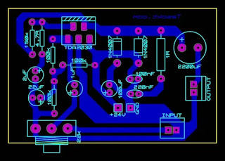 tda2030 amplifier pcb layout top