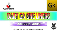 One liner current affairs 5 Jan 2020