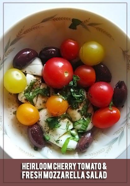 Heirloom Cherry Tomato and Fresh Mozzarella Salad | therisingspoon.com