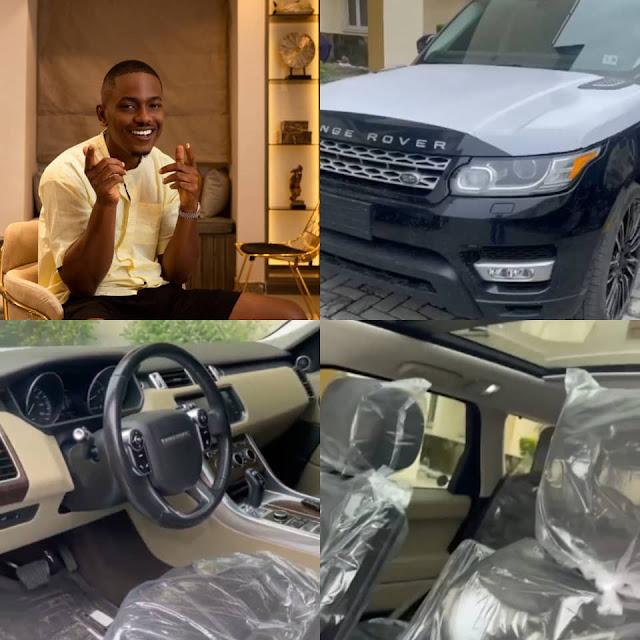 Actor Timini Egbuson buys himself a Range Rover as a birthday gift (Video)