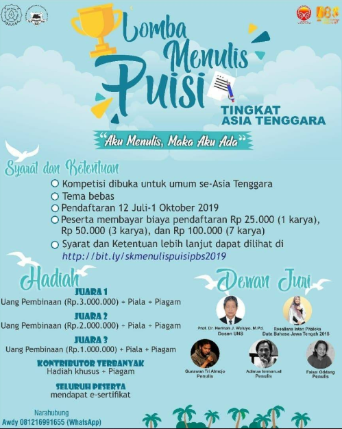 Lomba Menulis Puisi Tingkat Asia Tenggara 2019 di UNS
