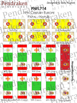 PNFL714   Papal/Naples flags