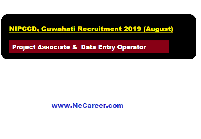 NIPCCD, Guwahati Recruitment 2019 (August) |  Project Associate &  Data Entry Operator Vacancy