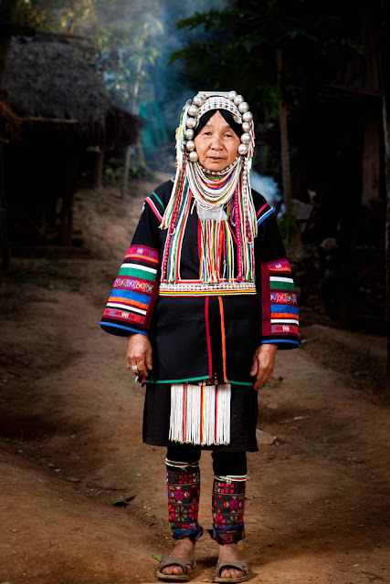 Local Style Traditional Costume Of The Akha People