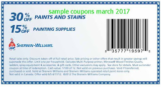 free Sherwin Williams coupons march 2017