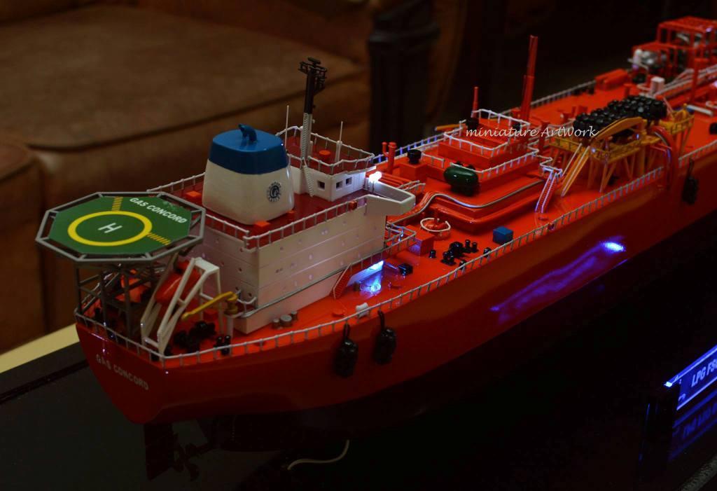 harga jual miniatur kapal gas concord lpg vessel tanker offshore ship pt pertamina planet kapal rumpun artwork termurah