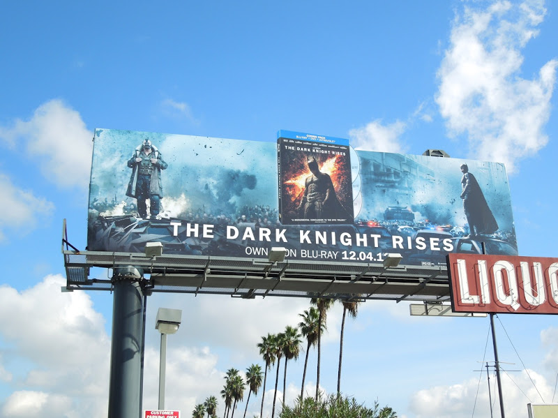 Dark Knight Rises Bluray movie billboard