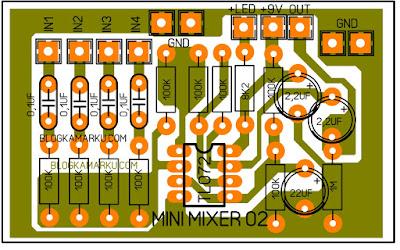 Rangkaian Mini Mixer Dengan Tambahan Power Mini