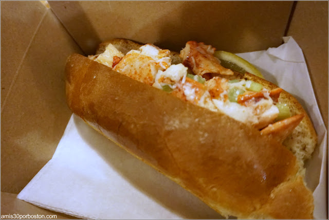 Lobster Roll de la Pescadería del Mercado Público de Boston