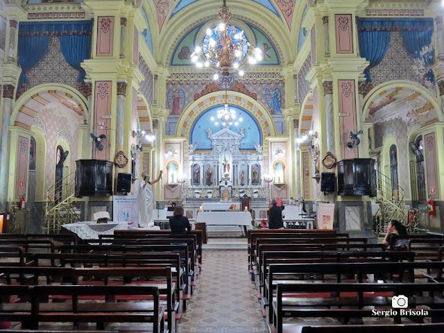 Vista do interior da Igreja Nossa Senhora do Rosário dos Homens Pretos - República - São Paulo