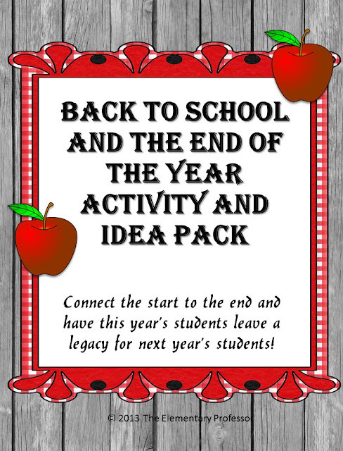 https://www.teacherspayteachers.com/Product/Back-to-School-and-The-End-of-the-Year-Activity-and-Idea-Pack-812529