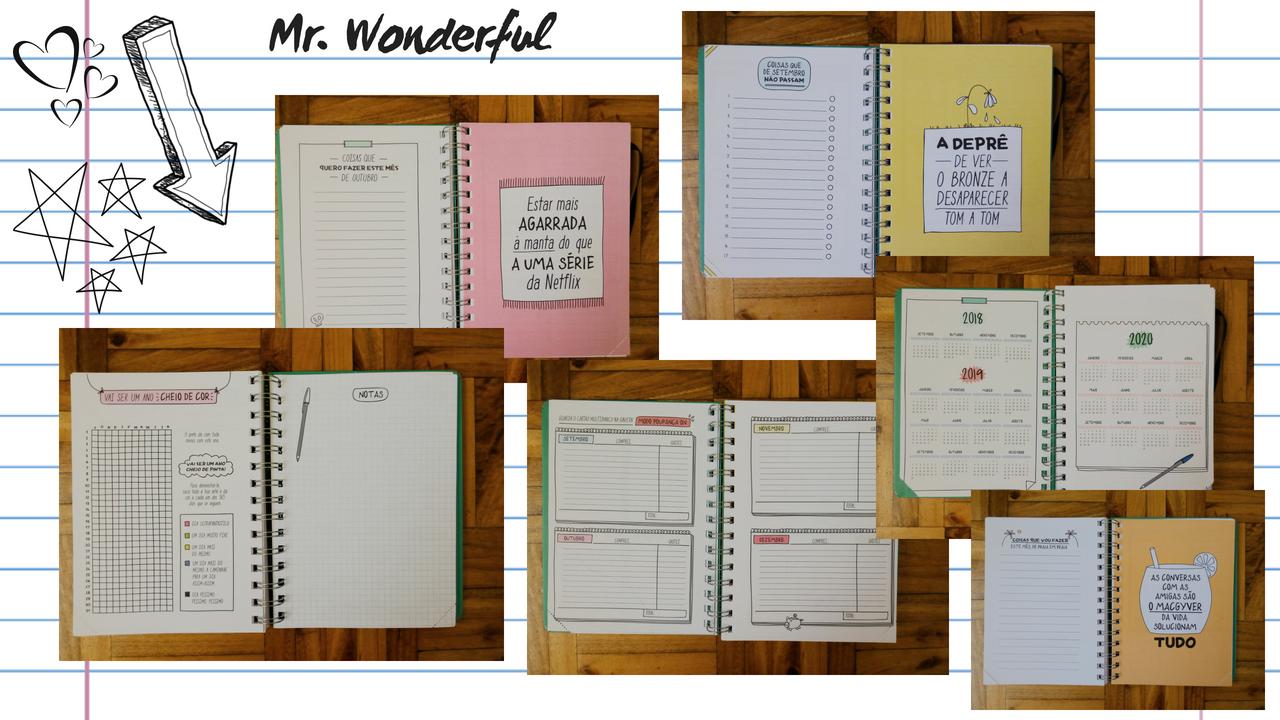 Agenda Mr.Wonderful