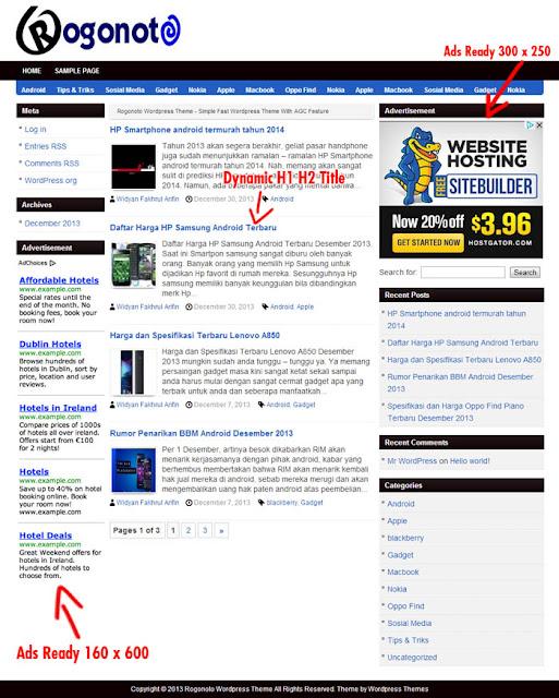 Kumpulan AGC Auto Generated Content Wordpress Theme semua ada disini