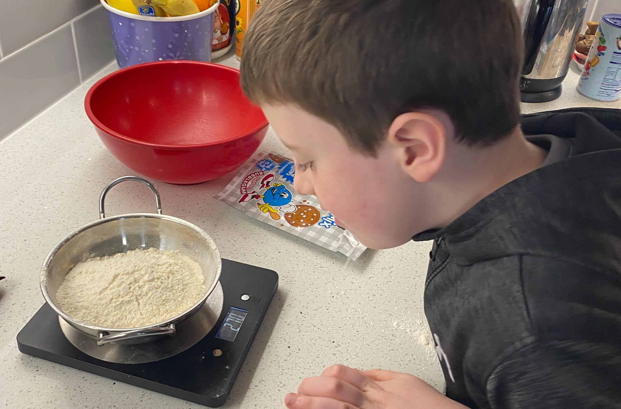 a boy baking