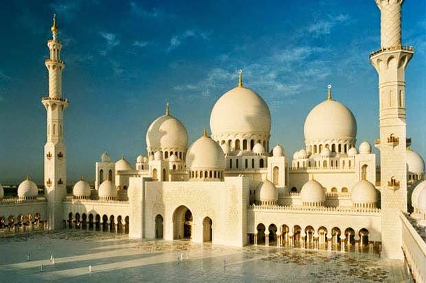 Gambar Masjid Sheikh Zayed Abu Dhabi Mosque Terindah di Dunia