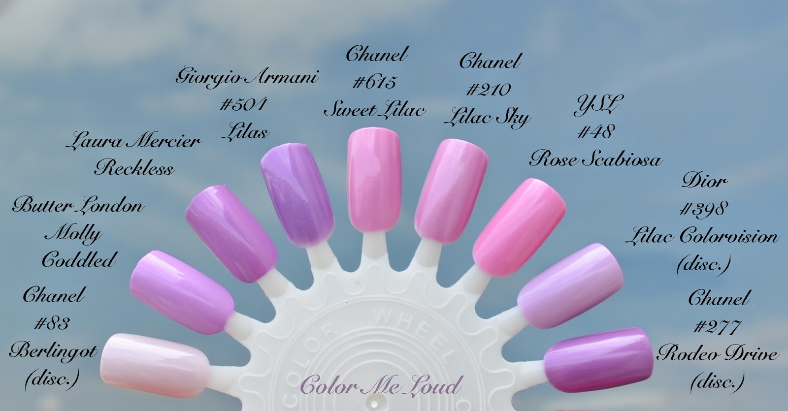 Chanel Le Vernis 615 Sweet Lilac 619 Pink Tonic 621