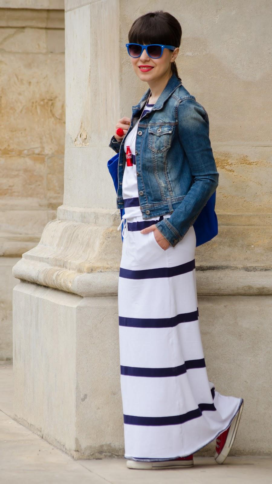 Miss Green Maxi Stripes Dress