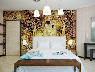 Contoh Gambar Wallpaper Dinding untuk Kamar Tidur