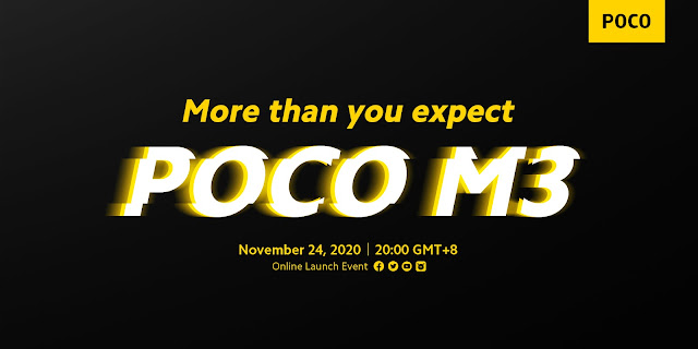[Trending] Poco M3 Specs Revealed by Company: Launching tomorrow in Europe