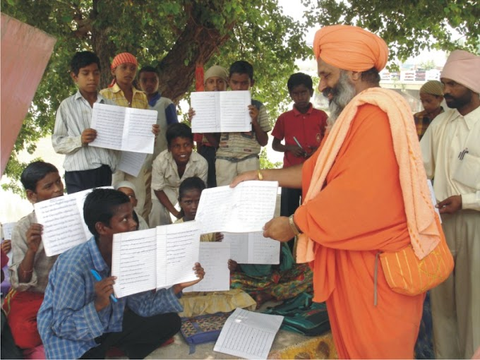 Sant Seechewal handed over the books in those hands that were lifting garbge and changed their destiny.