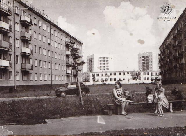 Июнь 1965 года. Рига. Югла. Новостройки (автор фото: E. Evzerihins