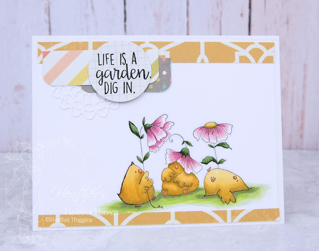 Heather's Hobbie Haven - Gardening Chicks Card Kit