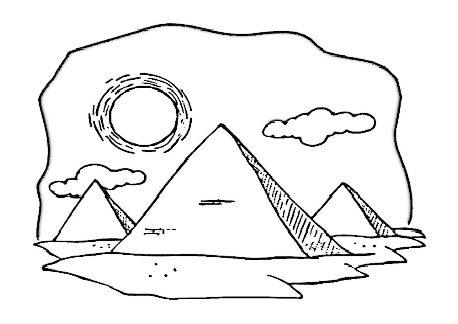 Piramides Do Egito Para Colorir I Suporte Geografico