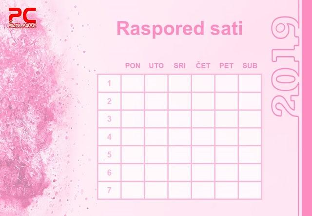 RASPORED SATI POWER POINT (verzija 5)