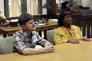 "Steven Boyer and Sherri Shepherd in ""Trial and Error"""